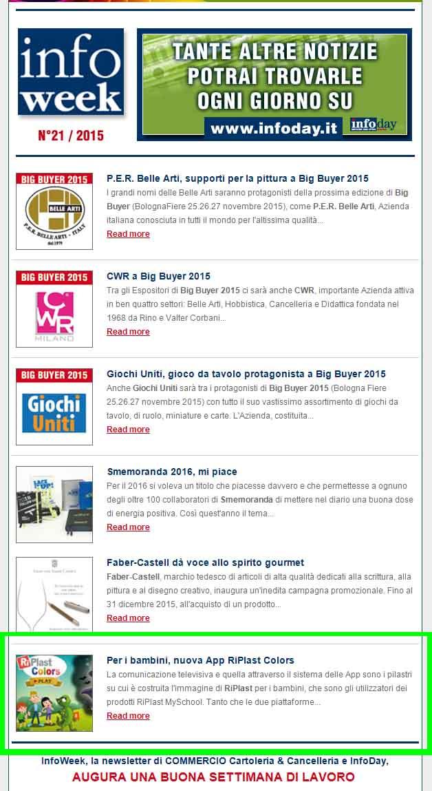 Infoweek n. 21 - App RiPlast Colors