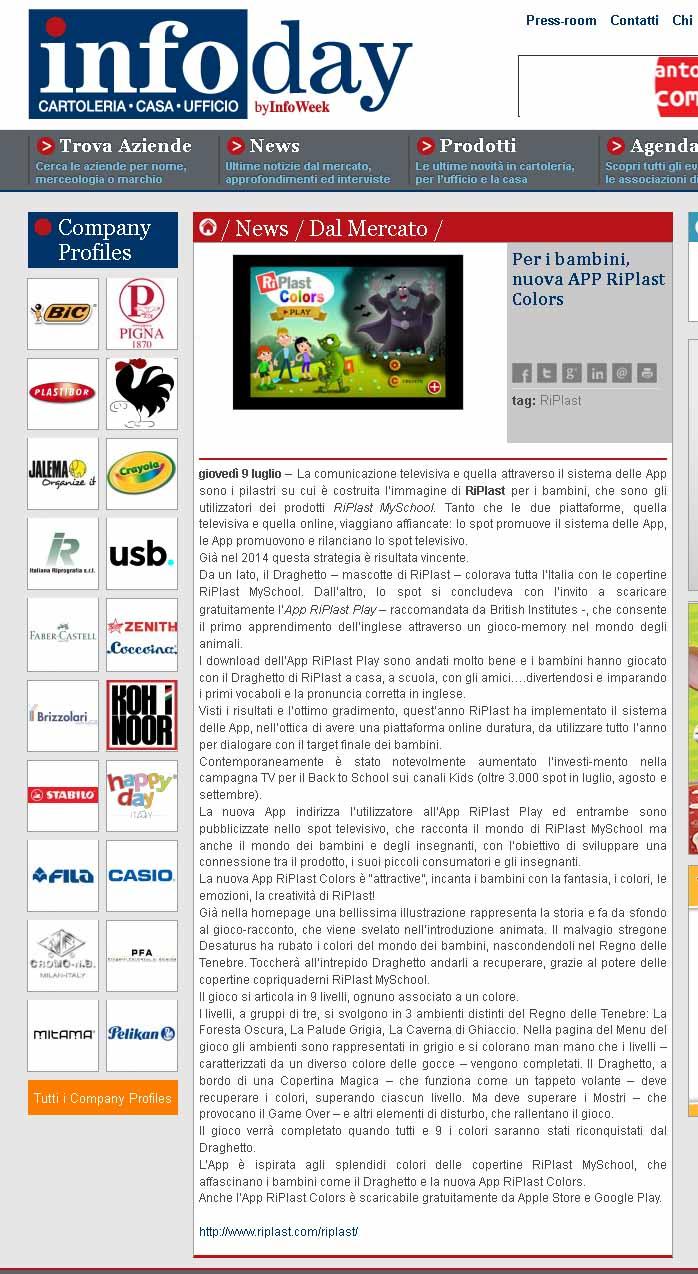 www.infoday.it - App RiPlast Colors