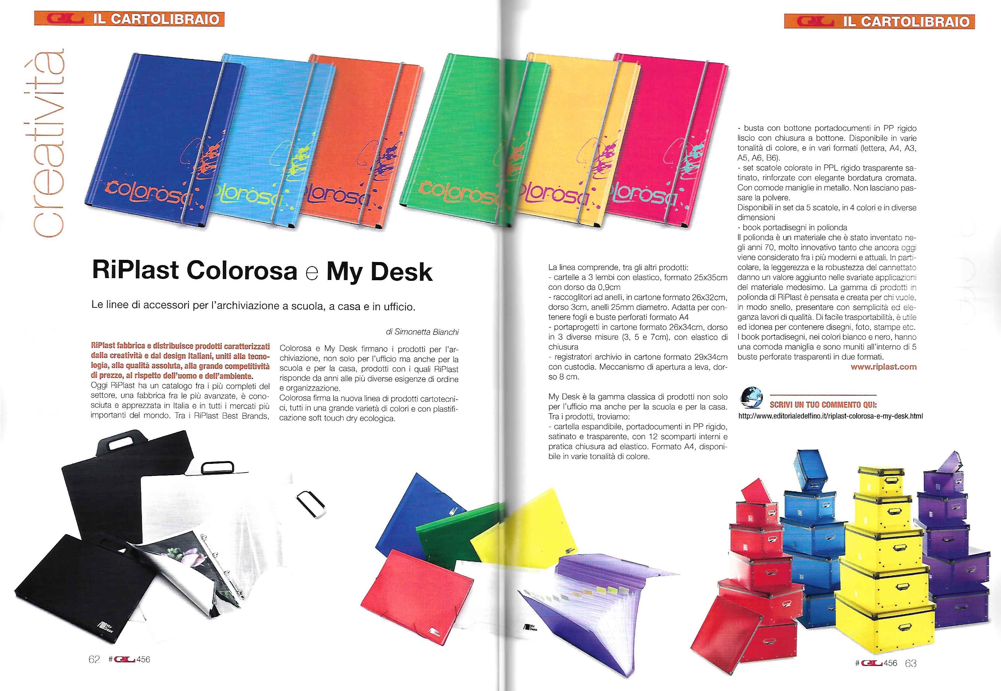 IL CARTOLIBRAIO ott 2017 - Colorosa + My Desk