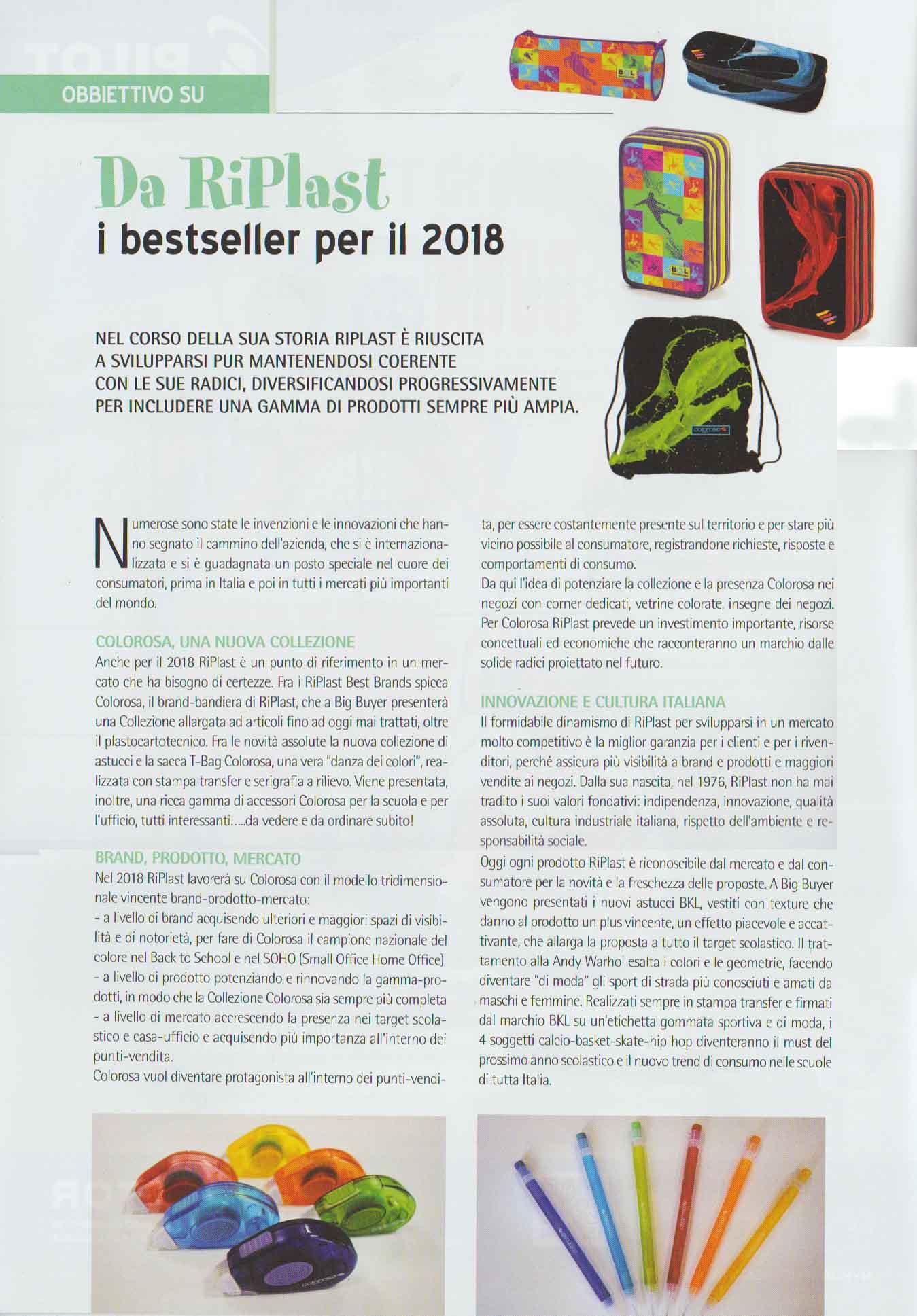 INCART nov 2017 - Collezione Colorosa Big Buyer 2017